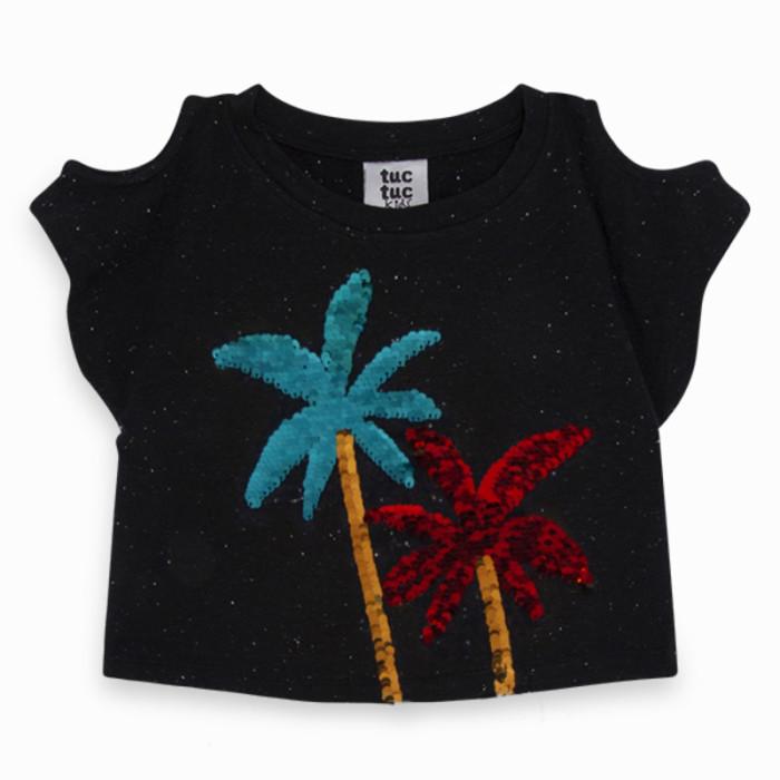 black-sequins-jersey-t-shirt-for-girl-sunset-beach